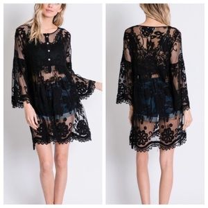Boho Lace Knit Tunic/Dress/Coverup
